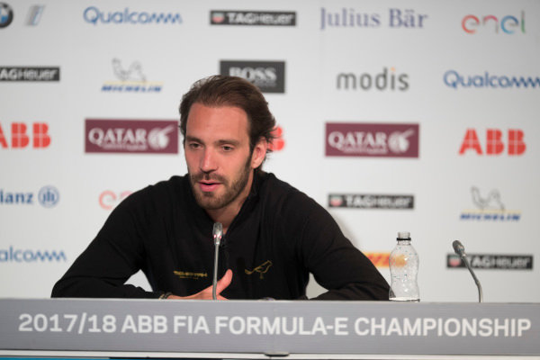 Jean-Eric Vergne (FRA), TECHEETAH, Renault Z.E. 17, in the Friday press conference.