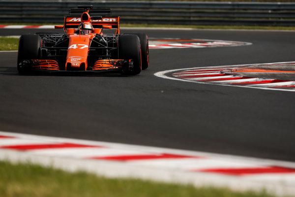 Hungaroring, Budapest, Hungary.  Wednesday 02 August 2017. Lando Norris, McLaren MCL32 Honda. World Copyright: Joe Portlock/LAT Images  ref: Digital Image _L5R2149