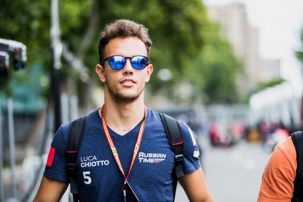 2017 FIA Formula 2 Round 4. Baku City Circuit, Baku, Azerbaijan. Thursday 22 June 2017. Luca Ghiotto (ITA, RUSSIAN TIME)  Photo: Zak Mauger/FIA Formula 2. ref: Digital Image _56I6014