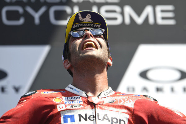 Podium: race winner Danilo Petrucci, Ducati Team.