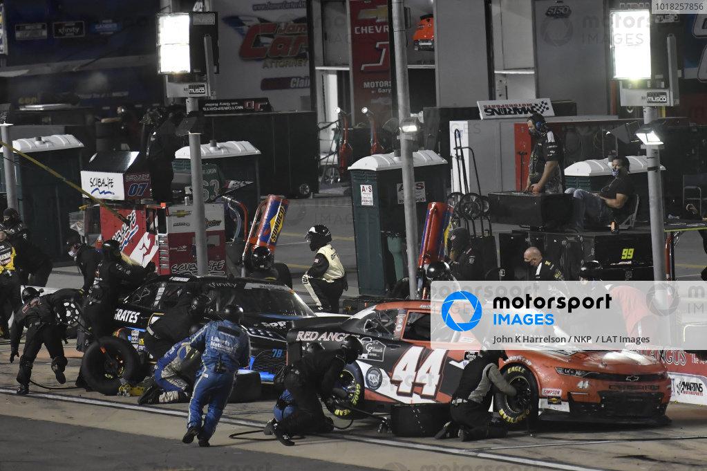 #44: Tommy Joe Martins, Martins Motorsports, Chevrolet Camaro Gilreath Farms Red Angus, #78: Stefan Parsons, B.J. McLeod Motorsports, Toyota Supra Springrates