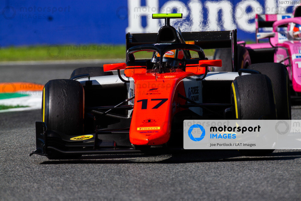 AUTODROMO NAZIONALE MONZA, ITALY - SEPTEMBER 08: Mahaveer Raghunathan (IND, MP MOTORSPORT) during the Monza at Autodromo Nazionale Monza on September 08, 2019 in Autodromo Nazionale Monza, Italy. (Photo by Joe Portlock / LAT Images / FIA F2 Championship)