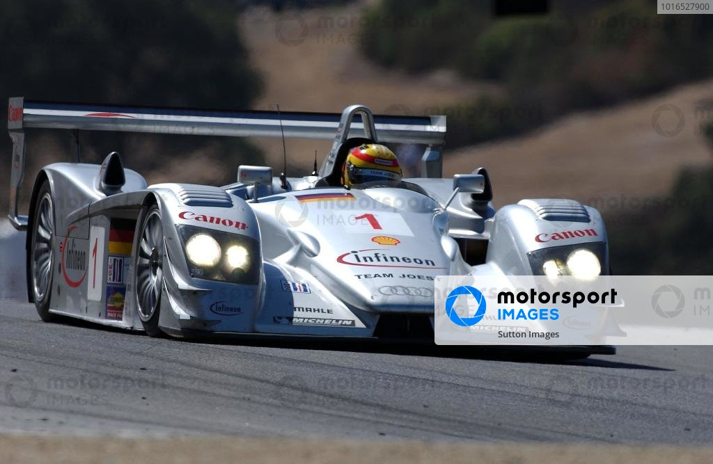 Frank Biela (GER) Joest Racing Audi R8 won the race.American Le Mans Series, Laguna Seca, USA, 7 September 2003.DIGITAL IMAGE
