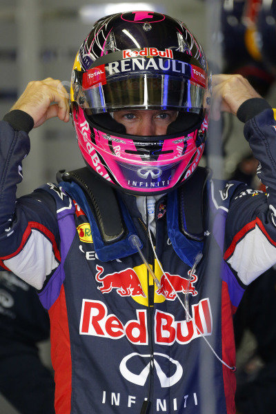 Sebastian Vettel (GER) Red Bull Racing. Formula One World Championship, Rd18, Brazilian Grand Prix, Qualifying, Sao Paulo, Brazil, Saturday 8 November 2014.