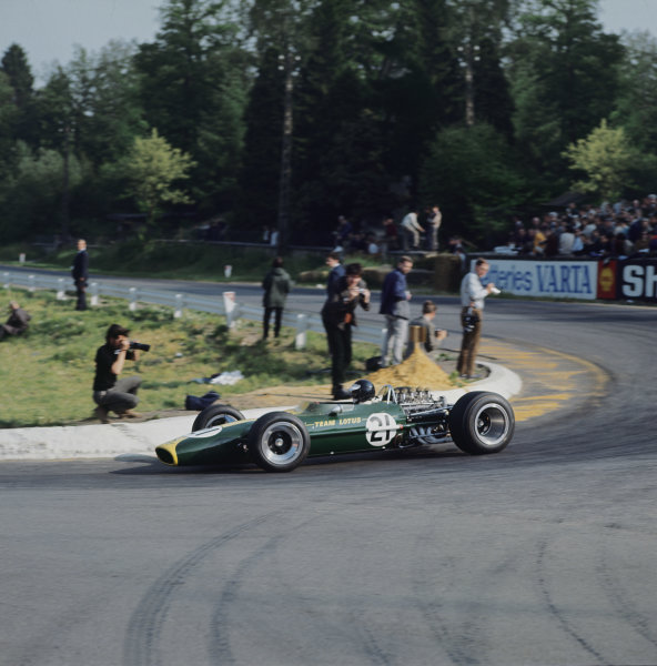 Spa-Francorchamps, Belgium. 16-18 June 1967. Jim Clark (Lotus 49 Ford) 6th position, action.  World Copyright: LAT Photographic. Ref:  2771.