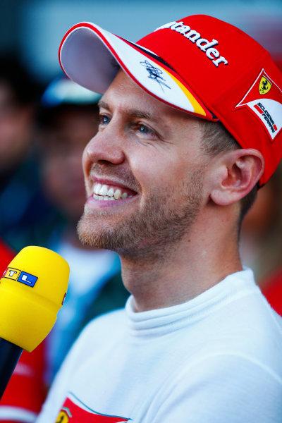 Albert Park, Melbourne, Australia. Sunday 26 March 2017. Sebastian Vettel, Ferrari.  World Copyright: Sam Bloxham/LAT Images ref: Digital Image _W6I4921