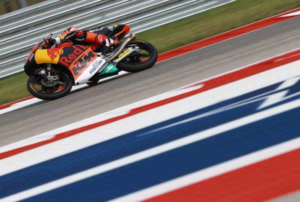 2017 Moto3 Championship - Round 3 Circuit of the Americas, Austin, Texas, USA Friday 21 April 2017 Bo Bendsneyder, Red Bull KTM Ajo World Copyright: Gold and Goose Photography/LAT Images ref: Digital Image Moto3-500-1501