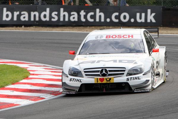 Paul Di Resta (GBR), AMG Mercedes, AMG Mercedes C-Klasse (2009) takes pole position.DTM, Rd7, Brands Hatch, England, 3-5 September 2010.World Copyright: LAT Photographicref: dne1004se244
