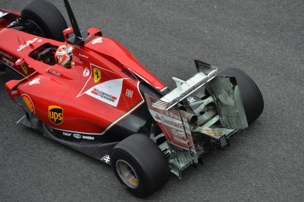 Kimi Raikkonen (FIN) Ferrari F14 T with aero paint on rear wing. Formula One Testing, Jerez, Spain, Day One, Tuesday 28 January 2014.