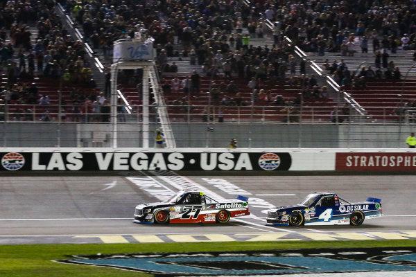 NASCAR Camping World Truck Series Las Vegas 350 Las Vegas Motor Speedway, Las Vegas, NV USA Saturday 30 September 2017 Christopher Bell, DC Solar Toyota Tundra wins World Copyright: Barry Cantrell LAT Images