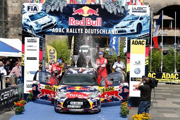 2014 World Rally Championship Rallye Deutschland 21-24 th August 2014 Stephane Lefebvre, Citroen WRC3, Podium Worldwide Copyright: McKlein/LAT