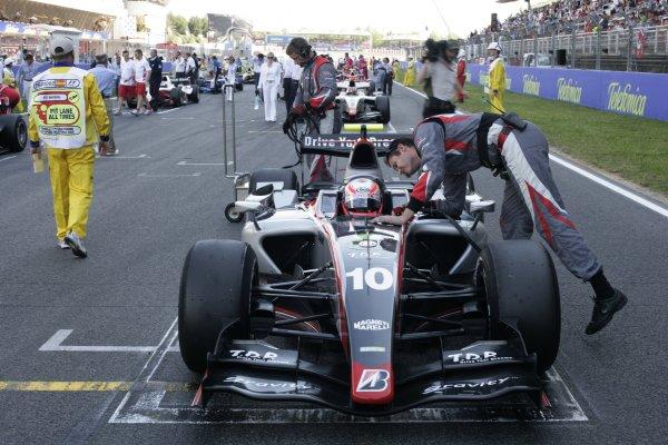 2008 GP2 Series. Round 1. Sunday Race.Barcelona, Spain. 27th April 2008Kamui Kobayashi (JPN, Dams). World Copyright: Alastair Staley/GP2 Series Media Service.ref:__P9O6088 jpg