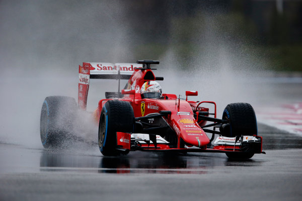 Paul Ricard, France. Tuesday 26 January 2016. Sebastian Vettel, Ferrari SF15-T. World Copyright: Steven Tee/LAT Photographic ref: Digital Image _L4R6277