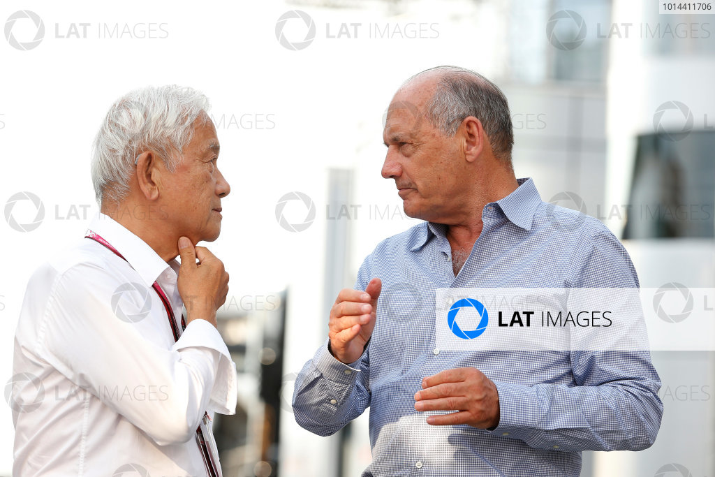 Hungaroring, Budapest, Hungary. Saturday 25 July 2015. Ron Dennis, Executive Chairman, McLaren Automotive. World Copyright: Charles Coates/LAT Photographic ref: Digital Image _N7T8642