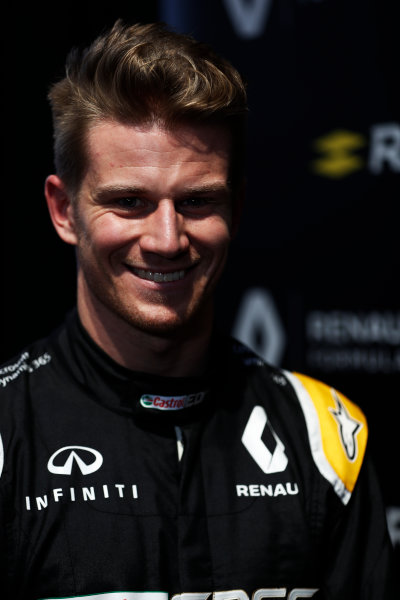 Renault  RS17  Formula 1 Launch. The Lindley Hall, London, UK. Tuesday 21 February 2017. Nico Hulkenberg, Renault Sport F1.  World Copyright: Glenn Dunbar/LAT Images Ref: _X4I0010
