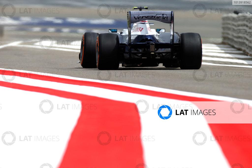 Bahrain International Circuit, Sakhir, Bahrain Friday 19th April 2013 Valtteri Bottas, Williams FW35 Renault.  World Copyright: Glenn Dunbar/LAT Photographic ref: Digital Image _89P0028