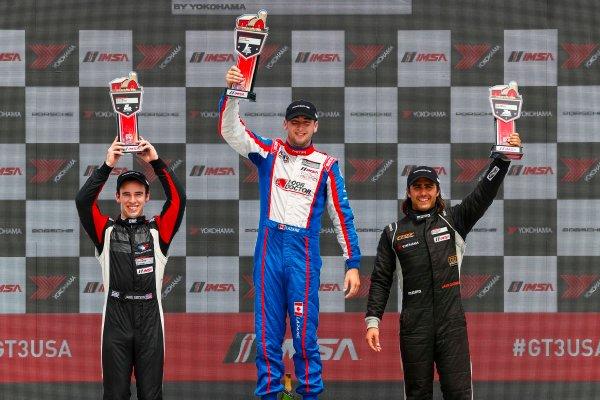 5-7 August 2016, Elkhart Lake, Wisconsin USA IMSA GT3 Cup USA Race 2, Platinum Podium ?2016, Jake Galstad LAT Photo USA