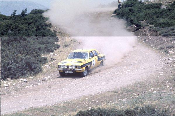 1975 World Rally Championship.Acropolis Rally, Greece. 24-31 May 1975.Walter Rohrl/Jochen Berger (Opel Ascona), 1st position.World Copyright: LAT PhotographicRef: 35mm transparency 75RALLY04