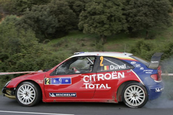 2005 FIA World Rally Champs. Round fourteenRallye De France.20th-23rd October 2005.Francois Duval, Citroen, Action.World Copyright: McKlein/LAT