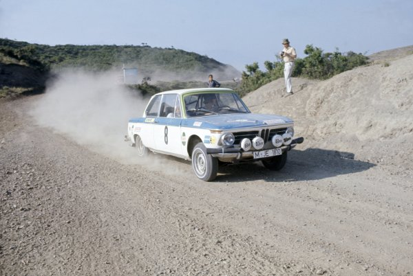 1972 World Rally Championship.Acropolis Rally, Greece. 25-29 May 1972.Tony Fall/Mike Wood (BMW 2002 TI), 5th position.World Copyright: LAT PhotographicRef: 35mm transparency 72RALLY03