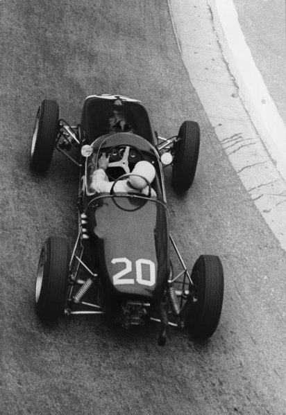 Monte Carlo, Monaco. 14 May 1961.Stirling Moss (Lotus 18-Climax), 1st position, action.World Copyright: LAT Photographic.Ref:Motor Used Pic.