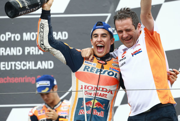 2017 MotoGP Championship - Round 9 Sachsenring, Germany Sunday 2 July 2017 Podium: race winner Marc Marquez, Repsol Honda Team World Copyright: David Goldman/LAT Images ref: Digital Image 34052
