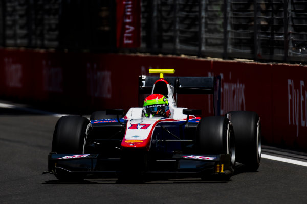 2017 FIA Formula 2 Round 4. Baku City Circuit, Baku, Azerbaijan. Friday 23 June 2017. Sergio Canamasas (ESP, Trident)  Photo: Zak Mauger/FIA Formula 2. ref: Digital Image _54I9809
