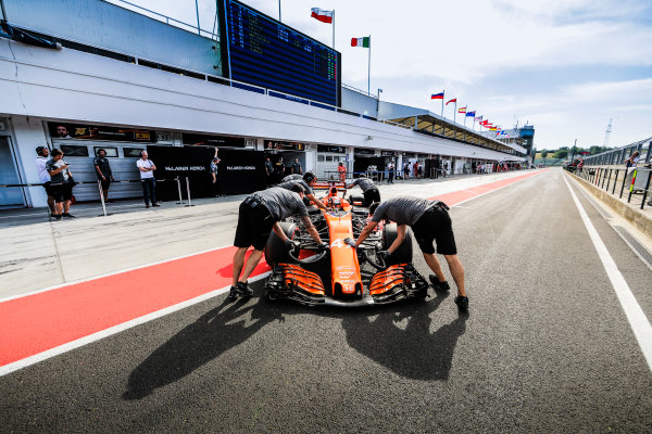 Hungaroring, Budapest, Hungary.  Wednesday 02 August 2017. Lando Norris, McLaren MCL32 Honda. World Copyright: Zak Mauger/LAT Images  ref: Digital Image _56I8476