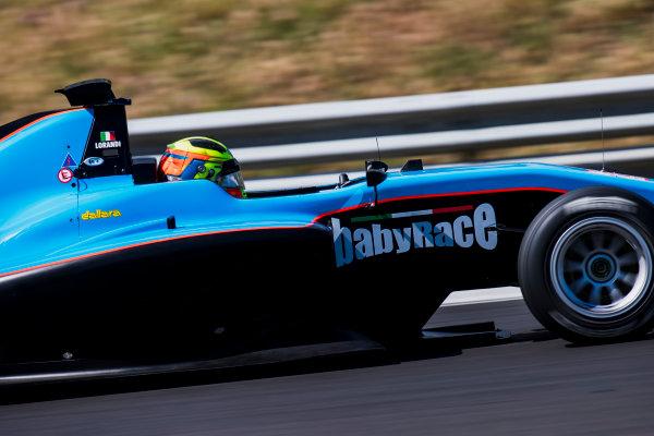 2017 GP3 Series Test 4.  Hungaroring, Budapest, Hungary. Wednesday 7 June 2017. Alessio Lorandi (ITA, Jenzer Motorsport)  Photo: Zak Mauger/GP3 Series Media Service. ref: Digital Image _56I2297