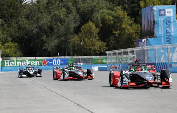 Daniel Abt (DEU), Audi Sport ABT Schaeffler, Audi e-tron FE06, Lucas Di Grassi (BRA), Audi Sport ABT Schaeffler, Audi e-tron FE06 and Nico Müller (CHE), GEOX Dragon, Penske EV-4