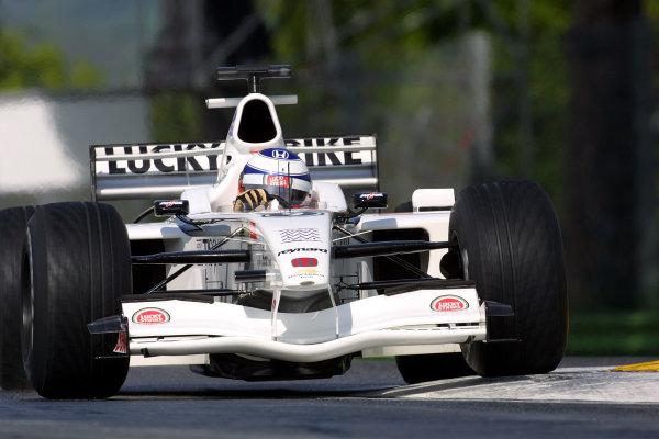 2001 San Marino Grand Prix.Imola, Italy. 13-15 April 2001.Olivier Panis (B.A R. 003 Honda) 8th position.World Copyright - LAT Photographicref: 8 9 MB Digital