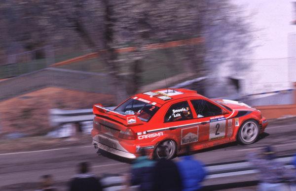 FIA World Rally ChampsCatalunya Rally, Spain. 30/3-2/4/2000Freddy Loix, Mitsubishi Carisma GT, 8th place.photo: World - McKleintel: (+44) 0208 251 3000e-mail: digital@latphoto.co uk35mm Original Image.