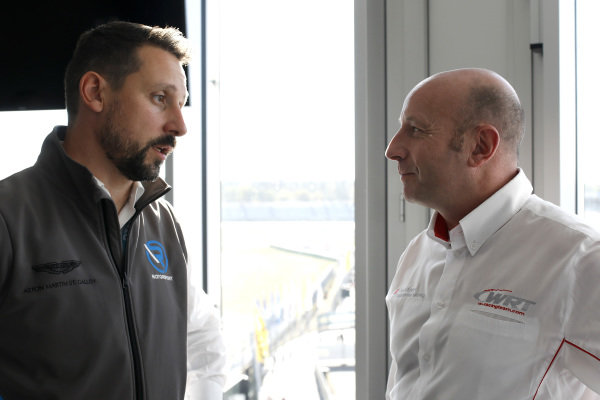 Dr. Florian Kamelger, Founder and owner AF Racing AG and Team principal R-Motorsport, Vincent Vosse, Team principal Audi Sport Team WRT.