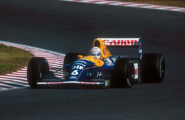 1992 Japanese Grand Prix.Suzuka, Japan.23-25 October 1992.Riccardo Patrese (Williams FW14B Renault) 1st position. This was his last Grand Prix win.Ref-92 JAP 06.World Copyright - LAT Photographic