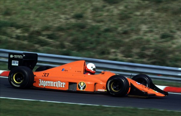 1989 Hungarian Grand Prix.Hungaroring, Budapest, Hungary.11-13 August 1989.Gregor Foitek (EuroBrun ER189 Judd). He failed to pre-qualify.World Copyright - LAT Photographic