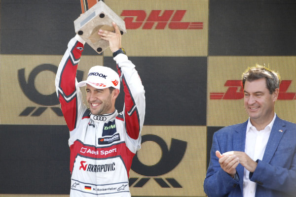 Podium: third place Mike Rockenfeller, Audi Sport Team Phoenix.