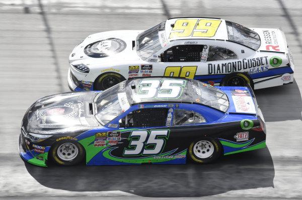 #35: Joey Gase, Motorsports Business Management, Toyota Supra, #99: Tommy Joe Martins, B.J. McLeod Motorsports, Toyota Supra Diamond Gusset Jeans / AAN Adjusters