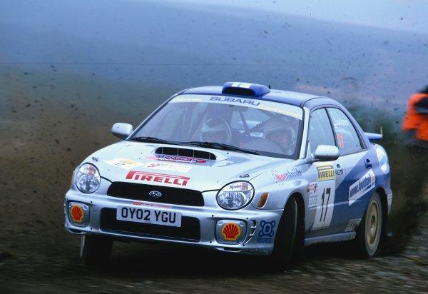2002 British Rally Championship.Pirelli International Rally, Gateshead, April 26-28 2002.Tapio Laukkanen, Subaru Impreza, third.World Copyright: Griffiths/LAT PhotographicRef: 35 mm original transparency