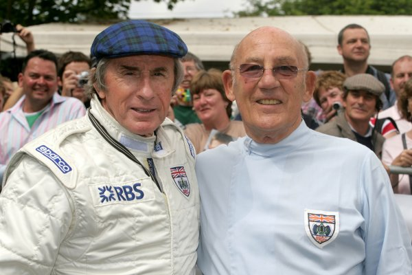 2006 Goodwood Festival of Speed.Goodwood Estate, West Sussex. 7th - 9th July 2006.Jackie Stewart and Stirling Moss .World Copyright: Gary Hawkins/LAT Photographic.ref: Digital Image Only.