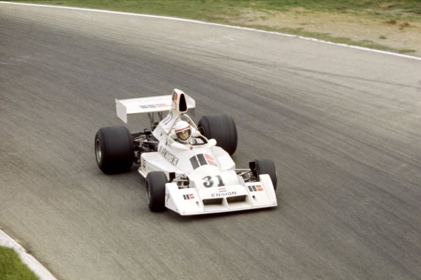 1975 Italian Grand Prix.Monza, Italy. 7 September 1975.Roelof Wunderink, Ensign N174-Ford, did not qualify, action.World Copyright: LAT PhotographicRef: 35mm transparency