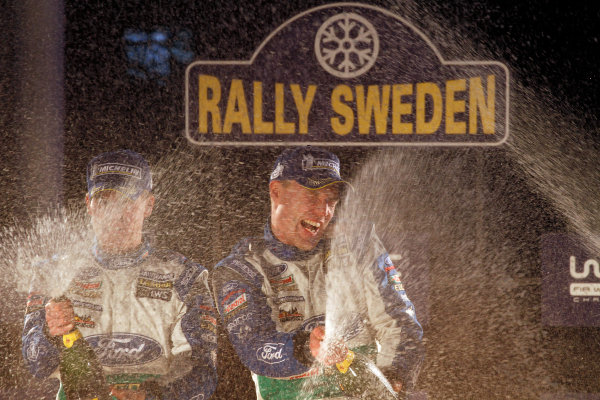 Round 02 - Rally Sweden 09-12 February 2012. Jari-Matti Latvala, Miikka Anttila, Ford WRC, Podium.  Worldwide Copyright: McKlein/LAT