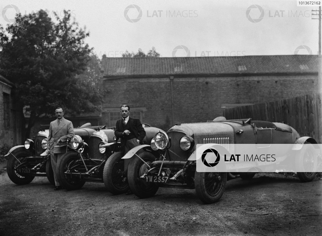 The Bentley 4-1/2 litre team cars for the 1929 Le Mans race (the lead lined ballast tubes across the tops of the dumb-irons, and the central headlights are the give away). Henry