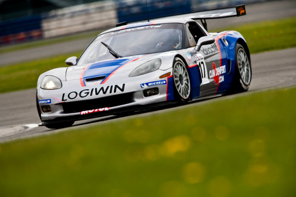 Silverstone, England. 30th April - 2nd May 2010. Arnaud Vincent / Arnaud  Peyroles (Graff Racing Corvette Z06R) Action. World Copyright: Drew Gibson/LAT Photographic. Digital Image _Y2Z3030