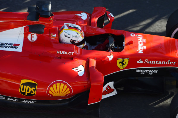 Sebastian Vettel (GER) Ferrari SF15-T  at Formula One World Championship, Rd1, Australian Grand Prix, Practice, Albert Park, Melbourne, Australia, Friday 13 March 2015.