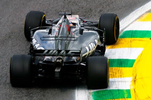 Interlagos, Sao Paulo, Brazil. Friday 10 November 2017. Romain Grosjean, Haas VF-17. World Copyright: Glenn Dunbar/LAT Images  ref: Digital Image _31I9907
