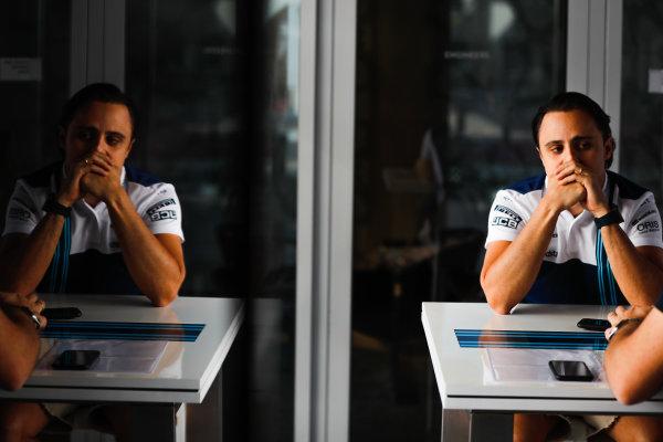 Yas Marina Circuit, Abu Dhabi, United Arab Emirates. Thursday 23 November 2017. Felipe Massa, Williams Martini Racing.  World Copyright: Glenn Dunbar/LAT Images  ref: Digital Image _X4I4591