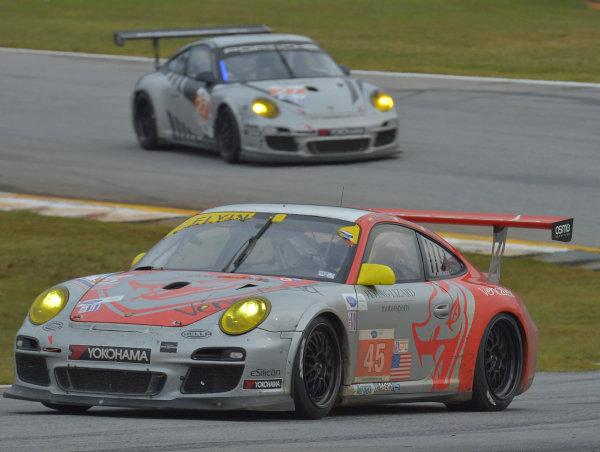 16-19 October, 2013, Braselton, Georgia USA #45 Flying Lizard Motorsports followed by #27 Porsche ©2013, Dan R. Boyd LAT Photo USA
