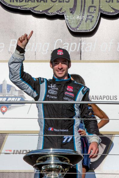 8-10 May, 2014, Indianapolis, Indiana, USA Simon Pagenaud in victory Lane ©2014, Michael L. Levitt LAT Photo USA