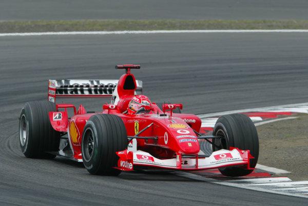 2003 European Grand Prix - Sunday RaceNurburgring, Germany.29th June 2003.Michael Schumacher, Ferrari F2003 GA, action.World Copyright LAT Photographic.Digital Image Only.
