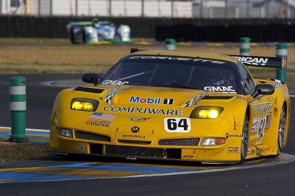 2004 Le Mans 24 HoursLe Mans France. 12th June 2004Gavin/Beretta/Magnussen (Corvette Racing Chevrolet Corvette C5-R) ction.World Copyright: Dave Friedman/LAT Photoghraphic ref: Digital Image Only